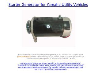 Buy Starter Generator for Yamaha UTV