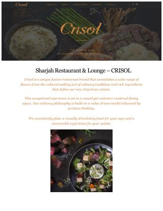Crisol Restaurant in Sharjah