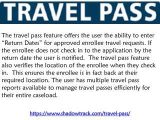 Travel Pass - Shadowtrack