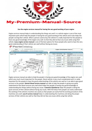 isuzu engine service manual