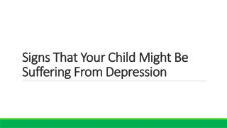 Is Your Child Suffering from Depression | Reboot Wellness