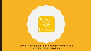 Auto Add Logo Copyright with Text on Camera Photos