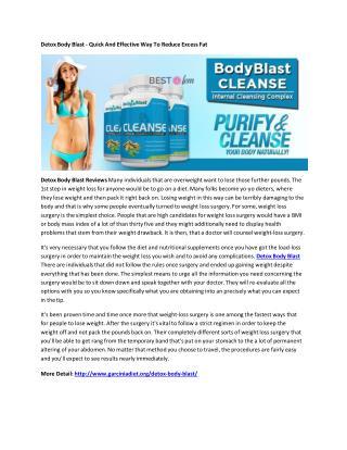 Detox Body Blast - Eliminate All Toxins From Body