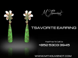 Buy Tsavorite Earring Shop Online - M Thouvenot