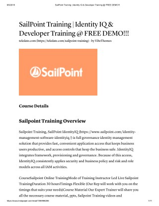 PPT - Sailpoint IdentityIQ Architecture At Tekslate