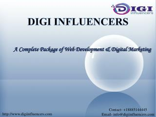 digital marketing services and web designing services