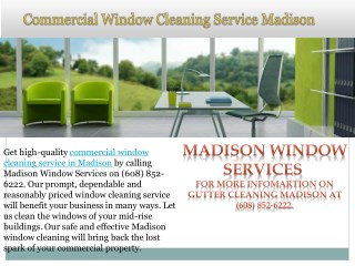 Commercial Window Cleaning Service in Madison