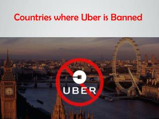 Countries where Uber is Banned