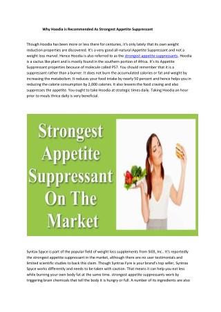 strongest appetite suppressants