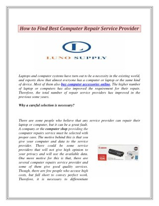 How to Find Best Computer Repair Service Provider