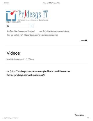 Videos for ERP | Pridesys IT Ltd