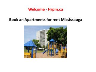 Book an Apartments for rent Mississauga