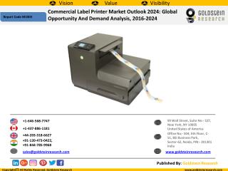 Global Commercial Label Printer Market 2024: Outlook, Insights, Forecast, Trends, Demand Analysis