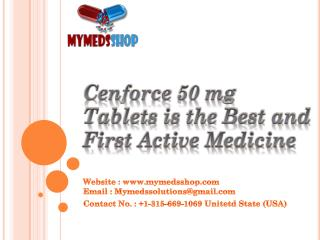 Cenforce 50 mg Tablets is the Best and First Active Medicine