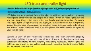 LED Light Buyer's Guide For Your Vehicle