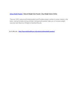 Ashwa Shakti Powder   Natural Weight Gain Powder   Buy Weight Gainer Online