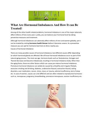 What Are Hormonal Imbalances And How It can Be Treated?