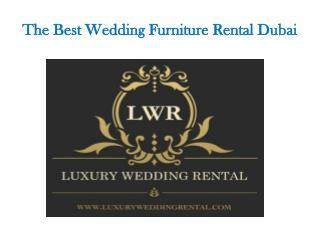 Wedding furniture rental Dubai