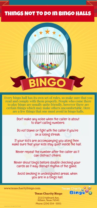 Things Not To Do In Bingo Halls