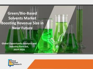 Green/Bio-Based Solvents Market to Generate Huge Revenue in 2020