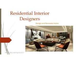Best Residential Interior Designers in Pune