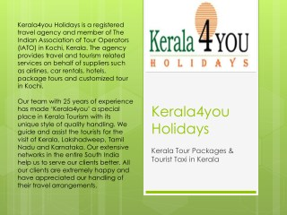 Kerala Tour Packages & Tourist Taxi in Kerala
