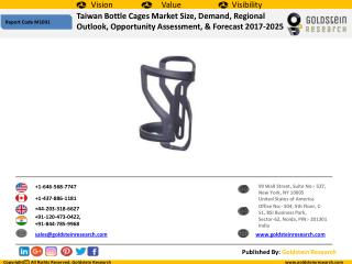Taiwan Bottle Cages Market Size, Demand, Trends, Share, Industry Analysis, Regional Outlook, & Forecast 2017-2025