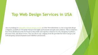 Top Web Design Services in USA