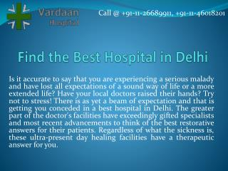 Find the Best Hospital in Delhi