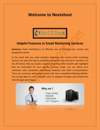 best email service provider for business, bulk email marketing service - nextehost