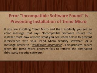 How to Install/Uninstall Trend Micro Antivirus?