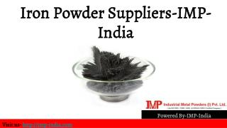 Iron Powder Suppliers-IMP-India