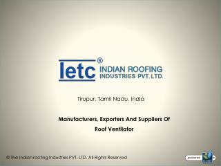 Roof Ventilator Manufacturers