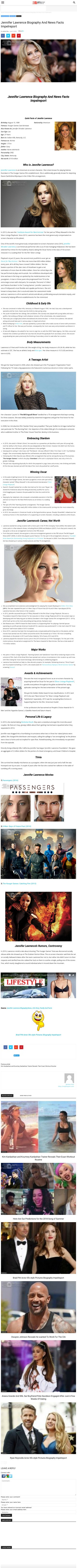Jennifer Lawrence Biography And News Facts Impelreport