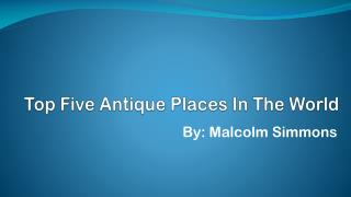 Scariest Places on Earth by Judge Malcolm Simmons