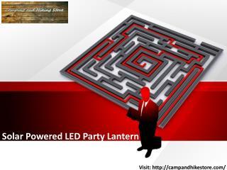 Solar Powered LED Party Lantern