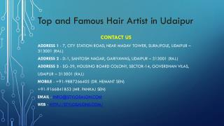 Top and famous hair artist in udaipur