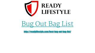 Bug Out Bag List Presentation