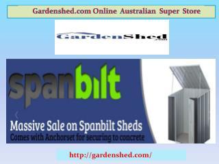 Garden Sheds, Timber Sheds, Absco Sheds Online at Best Price.