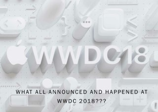 What all announced and happened at WWDC 2018