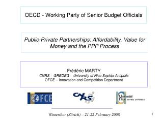 OECD - Working Party of Senior Budget Officials