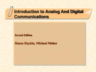 Introduction to Analog And Digital Communications