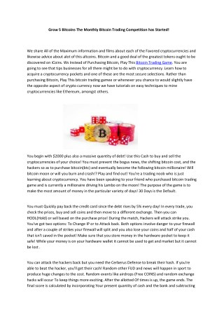 bitcoin trading game