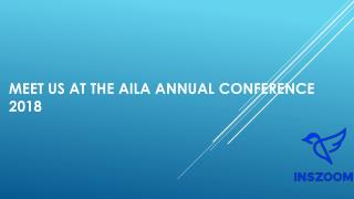 Meet us at the AILA Annual Conference 2018