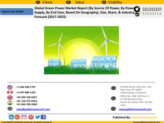 Global Green Power Market Outlook 2017-2025