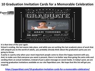 10 Graduation Invitation Cards for a Memorable Celebration