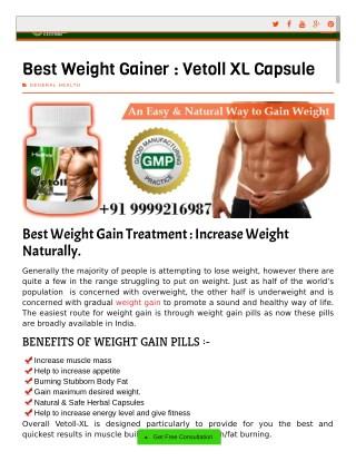 Best Weight Gainer