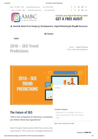 2018 Trends in SEO