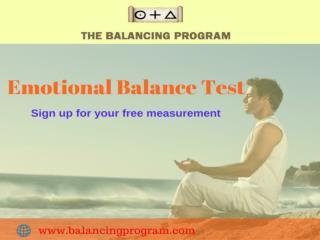 Emotional Balance Test-Free measure at balancing program