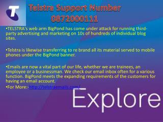 Telstra Tech Support 0872000111